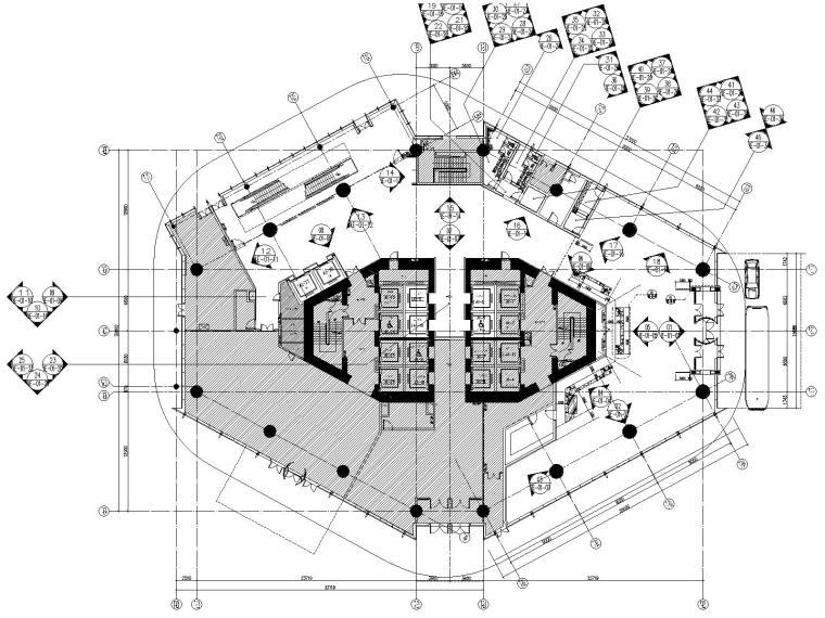 [福建]CCD-福州世茂洲际五星级酒店公共区CAD施工图