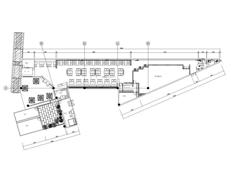 [杭州]混搭风格中餐厅装修施工图(附效果图)