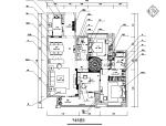 美式田园风三居室住宅设计施工图(附效果图)