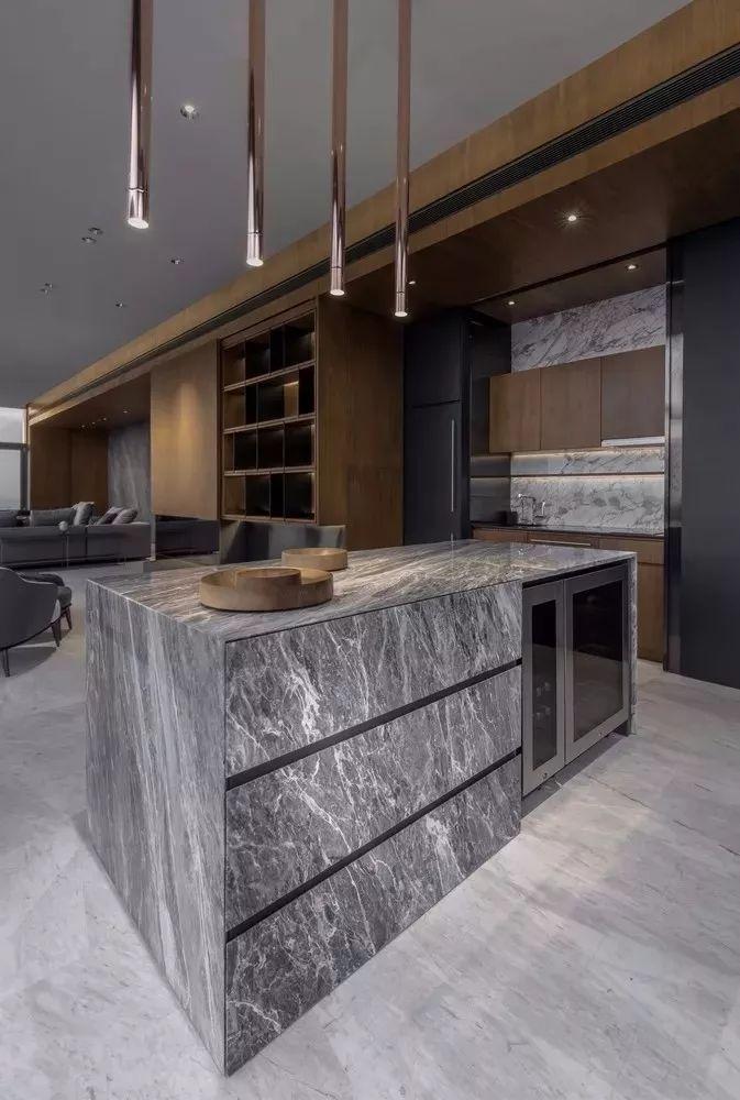 室内设计 130㎡的单身公寓,设计感十足_23