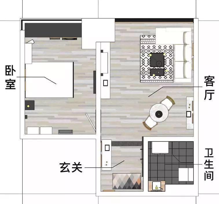 看设计师如何爆改40㎡小住宅,秒变北欧风