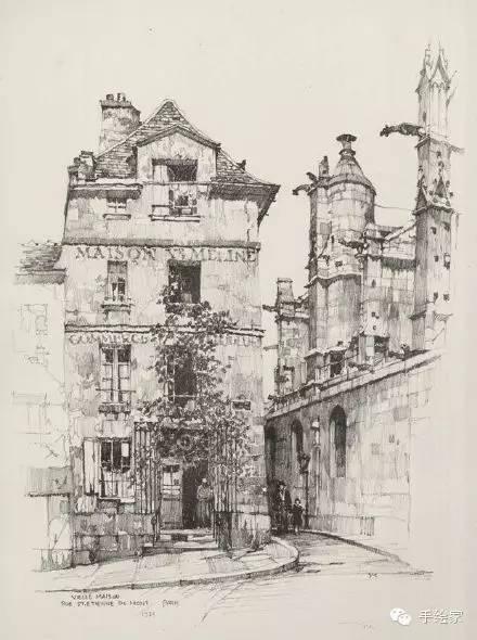 百年经典建筑设计手绘图_61