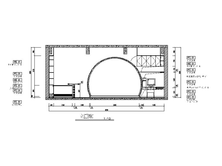 现代风格小巨蛋办公室设计CAD施工图(含实景图)_2