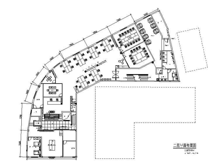 某汽车现代风格办公室设计施工图(含效果图)