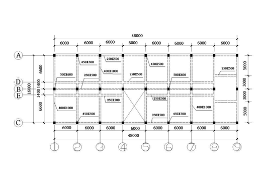 多层框架结构大学宿舍课程设计计算书(word,44页)_3