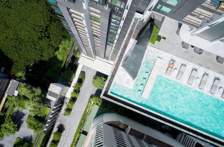 曼谷中心豪华公寓景观-590367e5