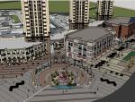 欧式商业街购物中心精细建筑SU模型