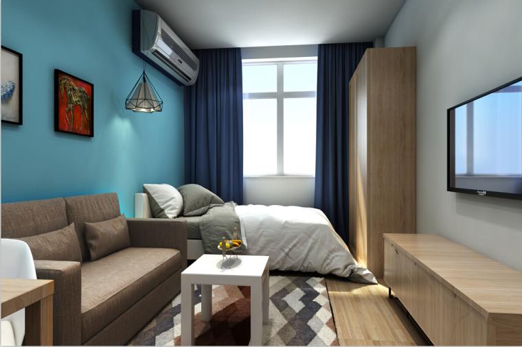 [北京]酒店式公寓室内设计施工图(含效果图)_6