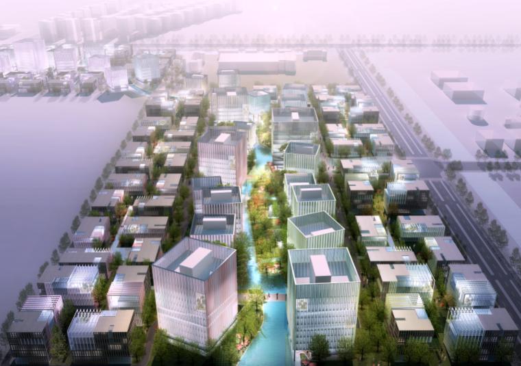 [江苏]某现代风格商业产业园建筑方案文本(PDF+100页)