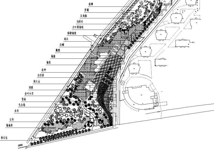 滨河绿化设计
