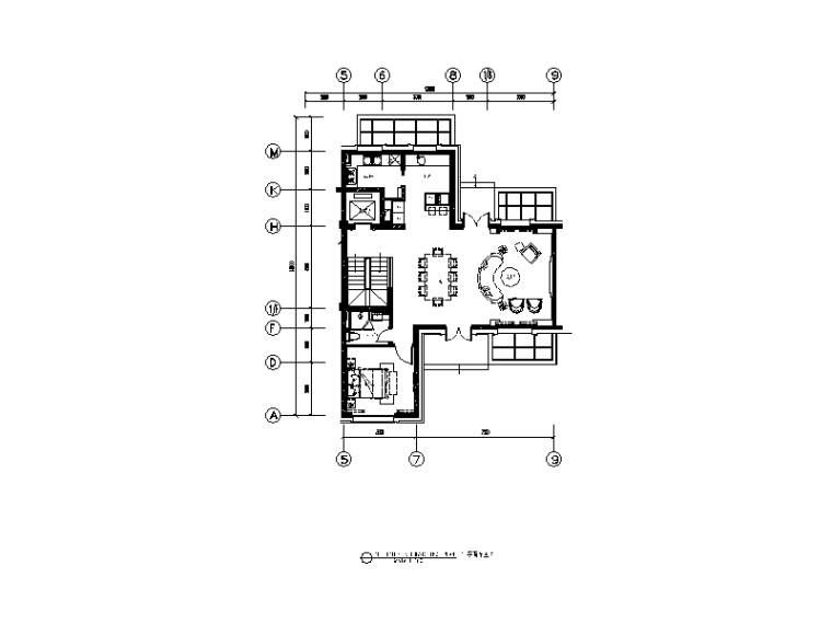 [上海]混搭风格别墅样板房CAD施工图(含实景图)