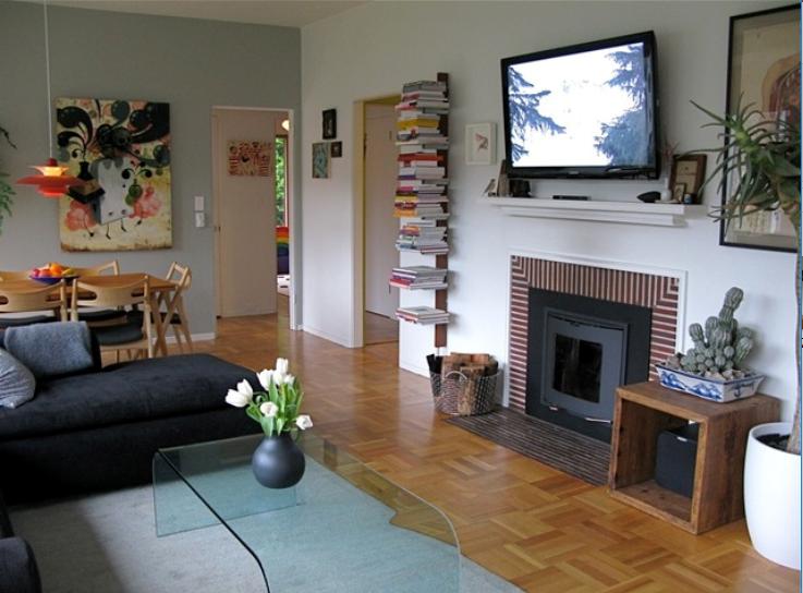 古朴平房舒适一居室室内装修设计实景图(18张)