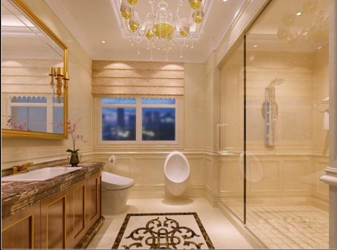 上千家(泉州)三层别墅室内设计施工图(含效果图)-卫生间效果图
