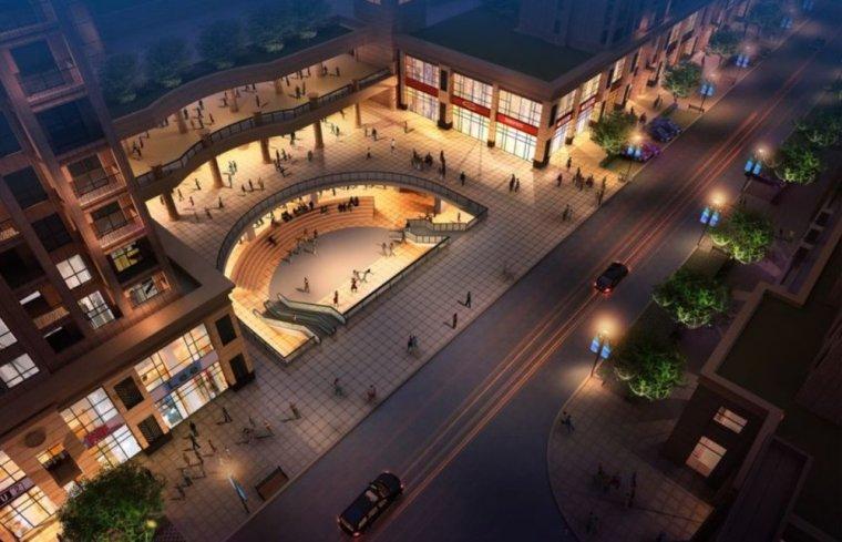 新古典风格2层建筑商业街设计(su模型)