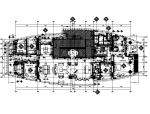 【上海】大户型样板房设计CAD施工图(含效果图)