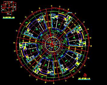 高层圆形平面造型广场归档施工图_6
