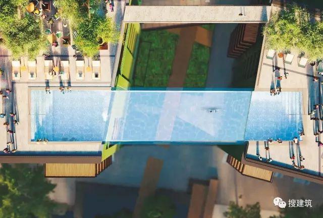 """27米长的""""空中泳池"""",在两栋大楼的第10层连接在一起,中间完全_5"""