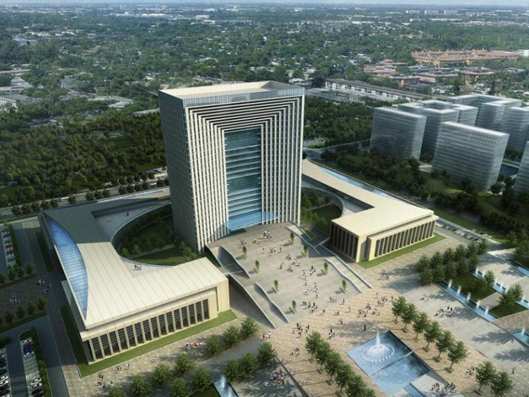 [甘肃]兰州行政中心建筑设计方案文本(CAD+SU+文本)
