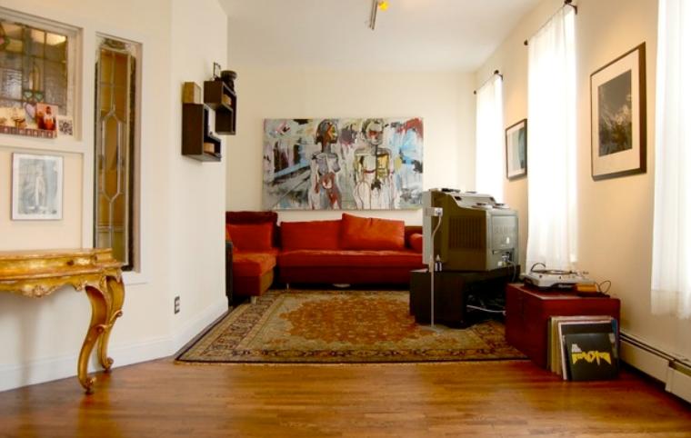 开放小公寓贵气范儿复古风格二居室实景图