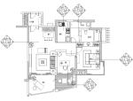 [海南]三亚时代海岸红色墨西哥风格B-3户型样板房施工图