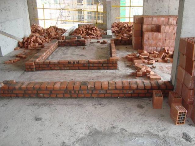 特拉块非承重墙砌体施工工法