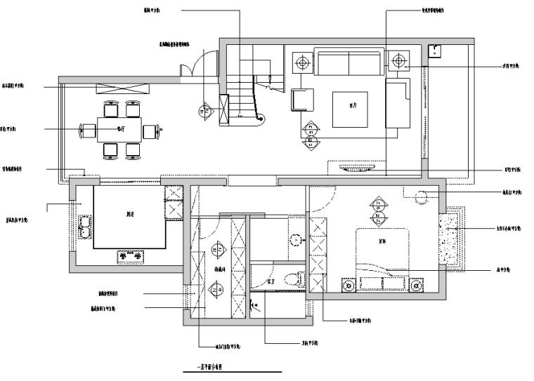 [江苏]ArtDeco风格200平米联体别墅设计施工图(附效果图)