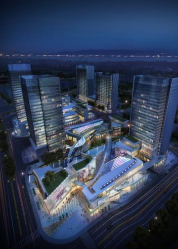 [深圳]中高档办公商务娱乐综合体项目建筑设计方案文本