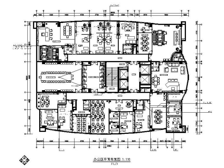 全套简欧风格办公楼详细设计施工图