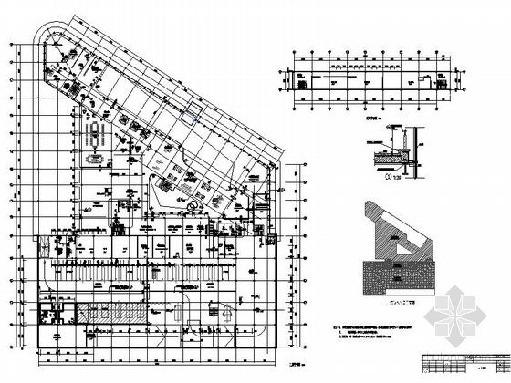 [河南]两层奔驰汽车4S店建筑施工图(甲级设计院)-两层奔驰汽车4S店建筑平面图