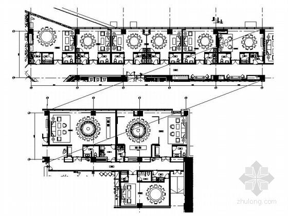 [上海]全球连锁酒店中餐厅包间装修施工图(含效果)