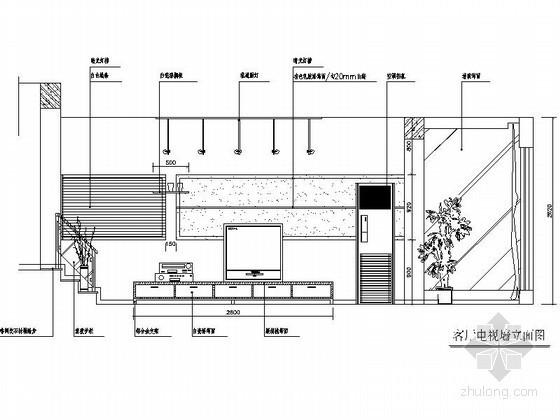 各式电视背景墙立面CAD图块下载