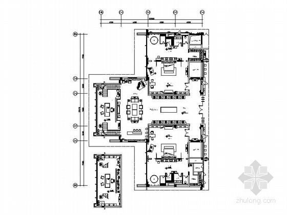 [江苏]优雅苏式会议酒店总统套房室内施工图