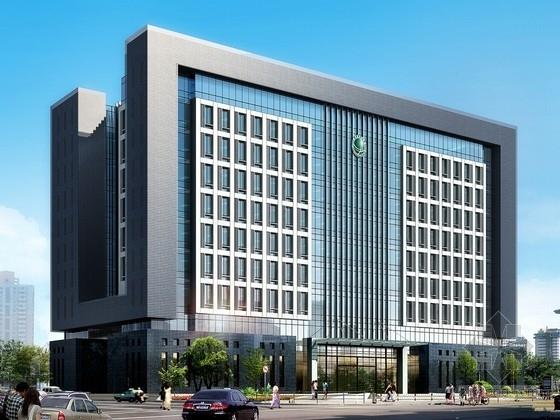 [湖北]10层现代风格生产调度通信办公楼建筑设计方案文本(知名设计院)