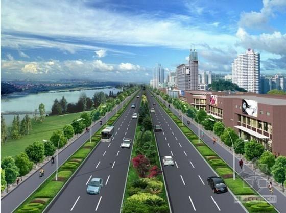 [山东]2015年市政道路管网工程预算书及施工图纸(绿化路灯)