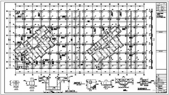 某框架地下室结构设计图