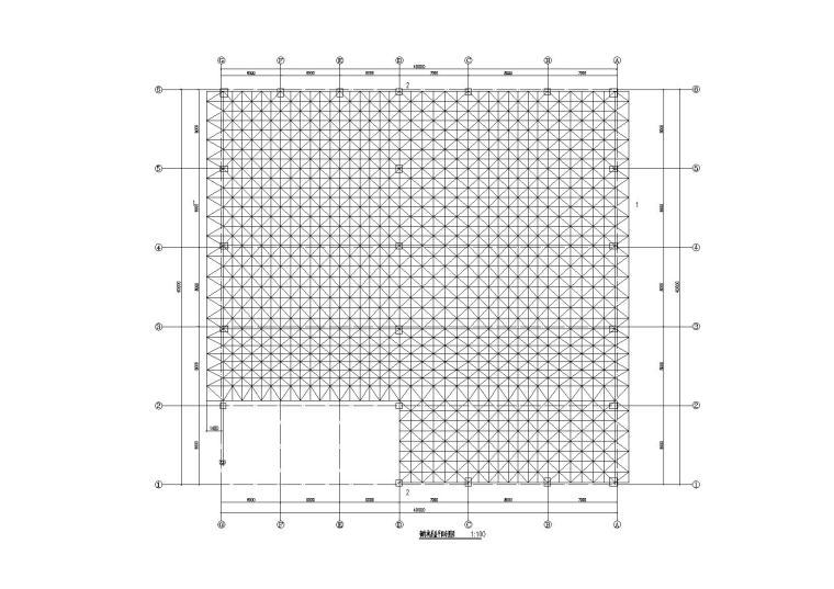 体育馆结构施工图_螺栓球网架屋盖2014