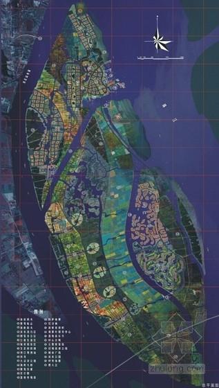 滨江现代风格城市规划总平面图