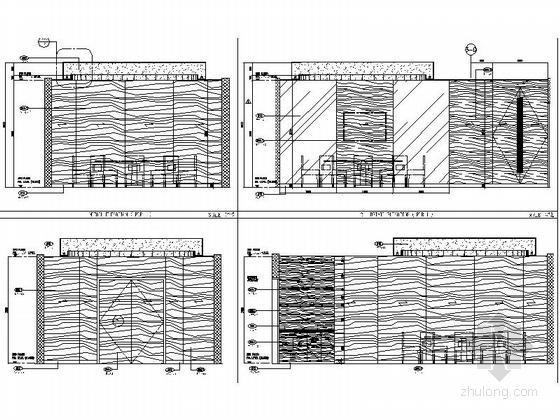 [上海]商业区豪华现代风格酒店餐厅室内装修施工图(含效果)全日餐厅立面图