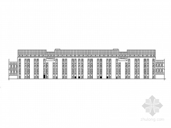 [成都]现代多层幕墙式商业建筑施工图