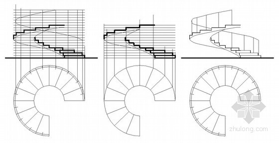 钢结构螺旋楼梯节点详图及画法