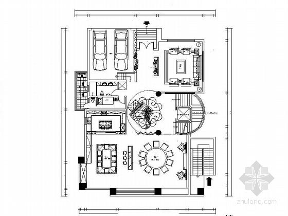 [广东]原生态豪宅三层别墅装修CAD施工图(含效果)