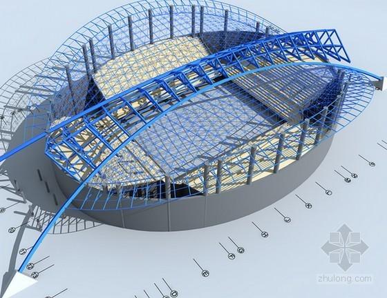 [贵州]钢网架结构体育馆工程钢结构施工方案(42页 附三维施工图)