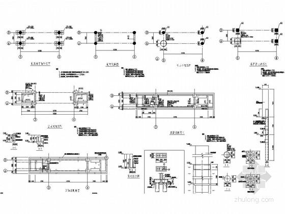 厂区入楼大门及门卫结构施工图