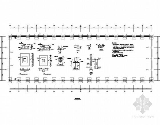 30米跨单层门式刚架轻钢结构厂房结构图