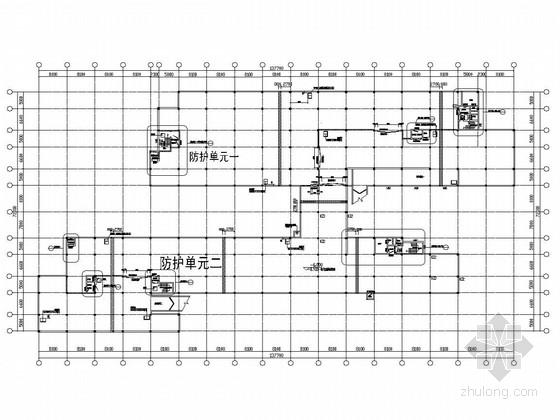 梁板柱结构地下汽车库结构施工图