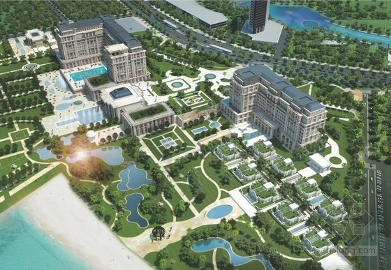 [厦门]欧式奢华五星级酒店建筑设计方案文本