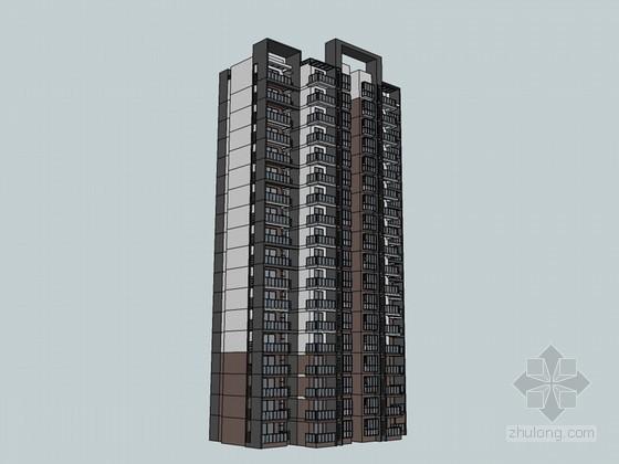 住宅楼SketchUp模型下载