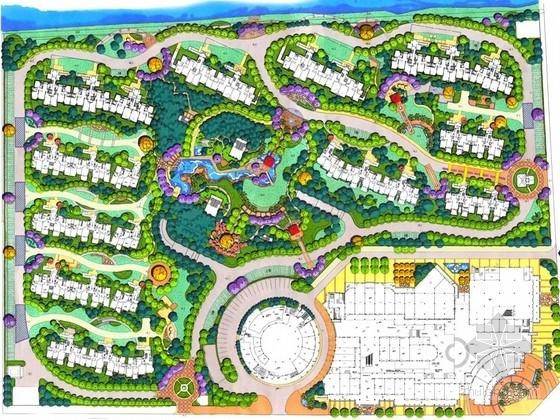 [上海]西班牙与地中海风情休闲居住区景观规划设计方案