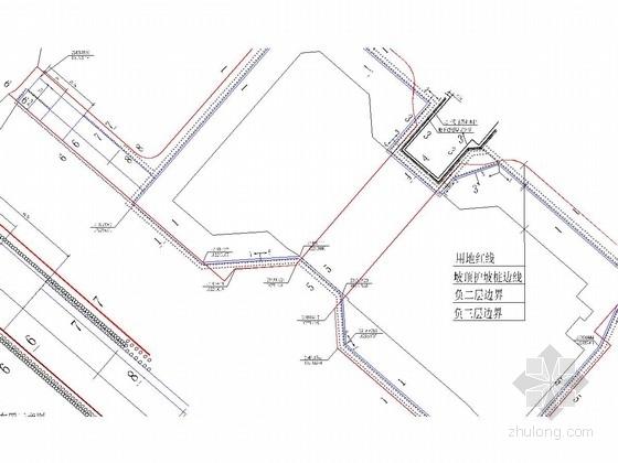 [山东]双排钻孔灌注桩结合预应力锚杆基坑支护施工图
