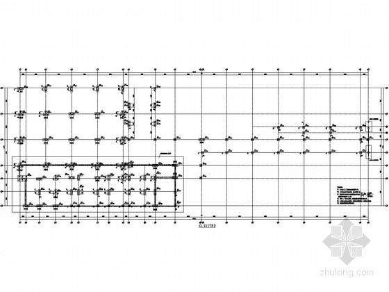 [广东]框架结构食堂与钢结构体育馆结构施工图